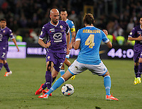 Borja Valero  during the the Italian Cup final soccer match between Napoli and  Fiorentina at the Olympic stadium in Rome May 3, 2014