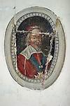 20050123 - France - Saint-Germain-en-Laye<br />MÉDAILLON DU CARDINAL RICHELIEU DANS LA CHAPELLE DU PAVILLON HENRI IV, OU EST NÉ LOUIS XIV<br />Ref:SAINT-GERMAIN-EN-LAYE_038 - © Philippe Noisette