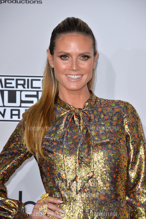 LOS ANGELES, CA. November 20, 2016: Model Heidi Klum at the 2016 American Music Awards at the Microsoft Theatre, LA Live.<br /> Picture: Paul Smith/Featureflash/SilverHub 0208 004 5359/ 07711 972644 Editors@silverhubmedia.com