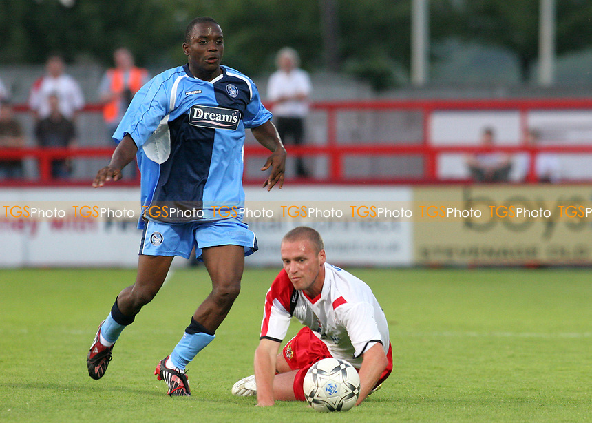 Nathan Ashton of Wycombe Wanderers, former Charlton and Fulham player who represented England at U19 level in action during Stevenage Borough vs Wycombe Wanderers, Friendly Match Football at Broadhall Way on 25th July 2008