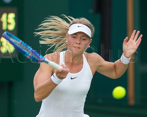 30.06.2016. All England Lawn Tennis and Croquet Club, London, England. The Wimbledon Tennis Championships Day Four.  Carina Witthoeft (GER)