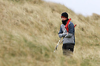 Luke O'Neill (Connemara) on the 14th green during the Final Round of the Connacht U18 Boys Open 2018 on Carne Golf Links at Belmullet Golf Club on Sunday 6th April 2018.<br /> Picture:  Thos Caffrey / www.golffile.ie<br /> <br /> All photo usage must carry mandatory copyright credit (&copy; Golffile | Thos Caffrey)