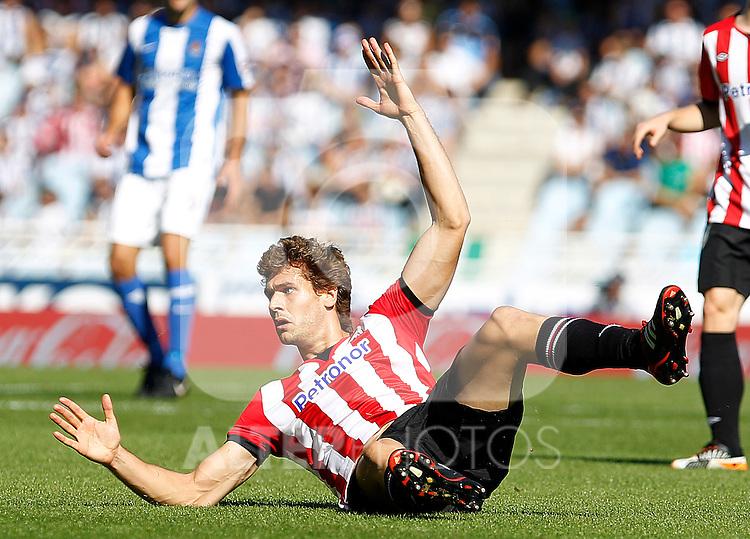 Athletic de Bilbao's Fernando LLorente during La Liga match.October 2,2011. (ALTERPHOTOS/Acero)