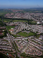 Aerial view of Bridgend