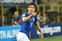 Federico Chiesa of Italy celebrates after scoring the goal of 2-1 <br /> Bologna 16-06-2019 Stadio Renato Dall'Ara <br /> Football UEFA Under 21 Championship Italy 2019<br /> Group Stage - Final Tournament Group A<br /> Italy - Spain <br /> Photo Andrea Staccioli / Insidefoto