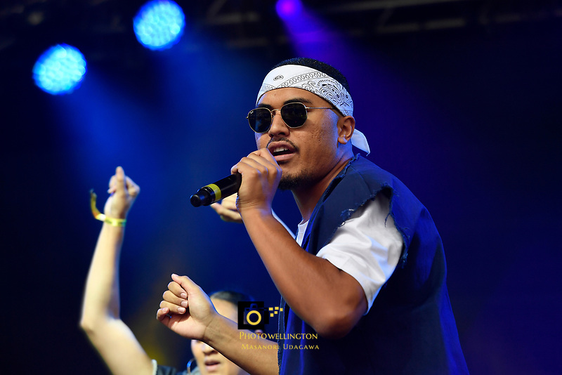 DJ Sir-Vere performing at Jim Beam Homegrown, Wellington Waterfront, New Zealand on Saturday 7 April 2018.<br /> Photo by Masanori Udagawa. <br /> www.photowellington.photoshelter.com