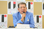 Takashi Sasagawa, <br /> AUGUST 7, 2015 : <br /> World Karate Federation (WKF) <br /> holds a media conference following its interview <br /> with the Tokyo 2020 Organising Committee in Tokyo Japan. <br /> (Photo by YUTAKA/AFLO SPORT)