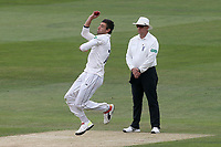 Duanne Olivier in bowling action for Yorkshire during Essex CCC vs Yorkshire CCC, Specsavers County Championship Division 1 Cricket at The Cloudfm County Ground on 8th July 2019
