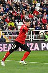 Rayo Vallecano´s goalkeeper Cristian Dario Alvarez during 2014-15 La Liga match between Rayo Vallecano and Malaga CF at Rayo Vallecano stadium in Madrid, Spain. March 21, 2015. (ALTERPHOTOS/Luis Fernandez)