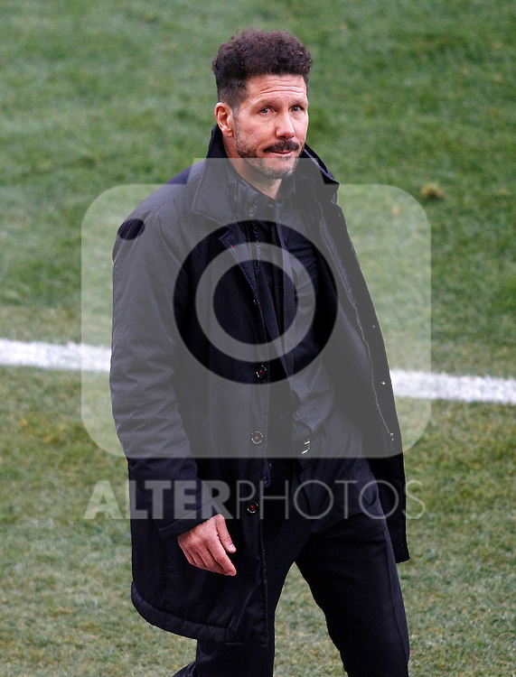 Atletico de Madrid's coach Diego Pablo Cholo Simeone during La Liga match. February 26,2017. (ALTERPHOTOS/Acero)