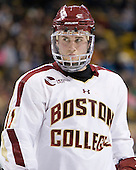 Pat Mullane (BC - 11) - The Boston College Eagles defeated the Providence College Friars 4-2 in their Hockey East semi-final on Friday, March 16, 2012, at TD Garden in Boston, Massachusetts.
