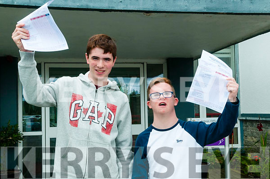 Leaving Cert Results: Students from North Kerry College, Listowel who received their leaving Cert results on Wednesday morning last. L-R : Sean McKenna & Dale O'Carroll.