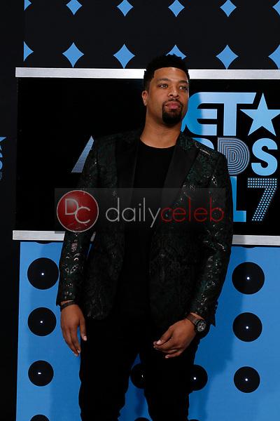DeRay Davis<br /> at the BET Awards 2017, Microsoft Theater, Los Angeles, CA 06-25-17<br /> David Edwards/DailyCeleb.com 818-249-4998