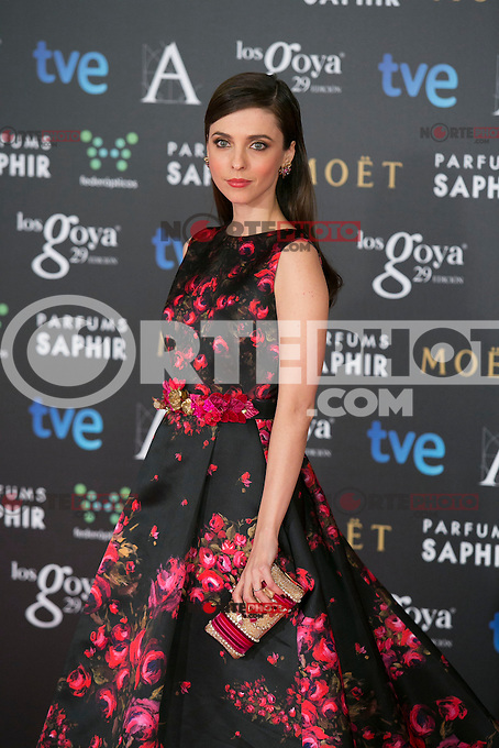 Leticia Dolera attend the 2015 Goya Awards at Auditorium Hotel, Madrid,  Spain. February 07, 2015.(ALTERPHOTOS/)Carlos Dafonte) /NORTEphoto.com