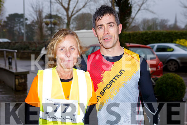 Carmel Foran (Tralee) with her nephew Trevor Leen (Tralee) at the the Optimal Fitness 5 & 10k run at the Rose Hotel on New Years Eve morning.