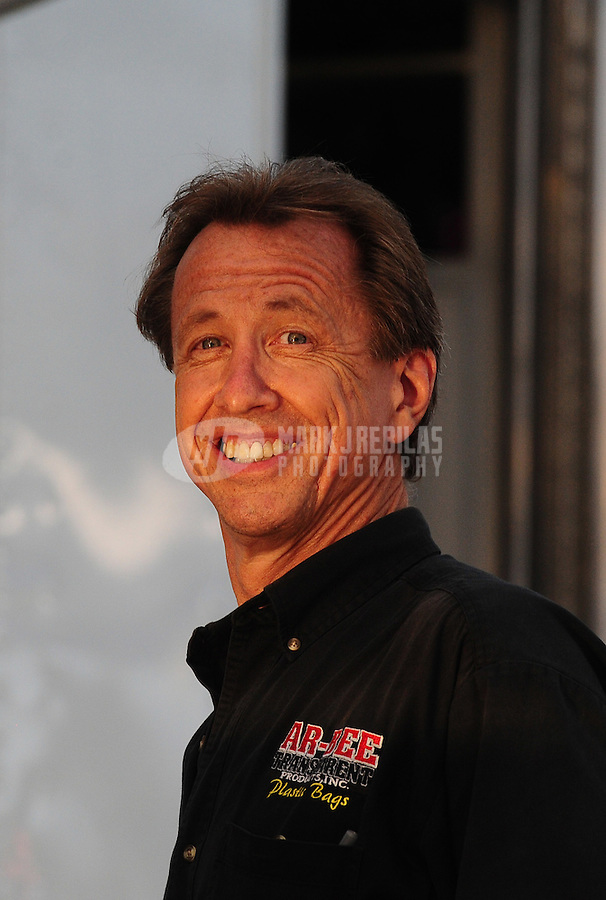 Jul, 8, 2011; Joliet, IL, USA: NHRA funny car driver Bob Bode during qualifying for the Route 66 Nationals at Route 66 Raceway. Mandatory Credit: Mark J. Rebilas-