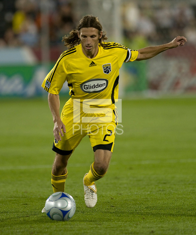 Frankie Hejduk. The Columbus Crew defeated the Colorado Rapids 2-0, Sunday, July 27, 2008 at Dick's Sporting Goods Park in Denver, Colorado.