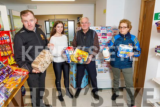 Fionnán Fitzgerald, Pat McCarthy and Maureen O'Shea show Community Spirit in Ballymac as the  Ballymac Community Alert Group are offering help by delivering shopping, medication and fuel for those living alone or unable to so, pictured in the Halfway Shop on Monday.