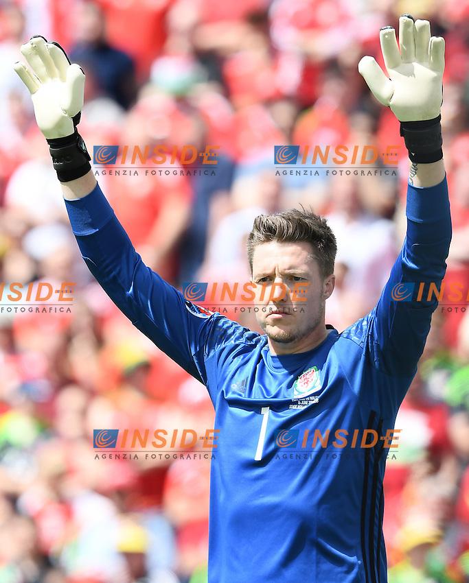 Wayne Hennessey Wales <br /> Lens 16-06-2016 Stade Bollaert-Delelis Footballl Euro2016 England - Wales / Inghilterra - Galles Group Stage Group B. Foto Matteo Gribaudi / Image Sport / Insidefoto