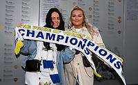 Leeds United fans pose for pictures outside Elland Road<br /> <br /> Photographer Alex Dodd/CameraSport<br /> <br /> The EFL Sky Bet Championship - Leeds United v Charlton Athletic - Wednesday July 22nd 2020 - Elland Road - Leeds <br /> <br /> World Copyright © 2020 CameraSport. All rights reserved. 43 Linden Ave. Countesthorpe. Leicester. England. LE8 5PG - Tel: +44 (0) 116 277 4147 - admin@camerasport.com - www.camerasport.com