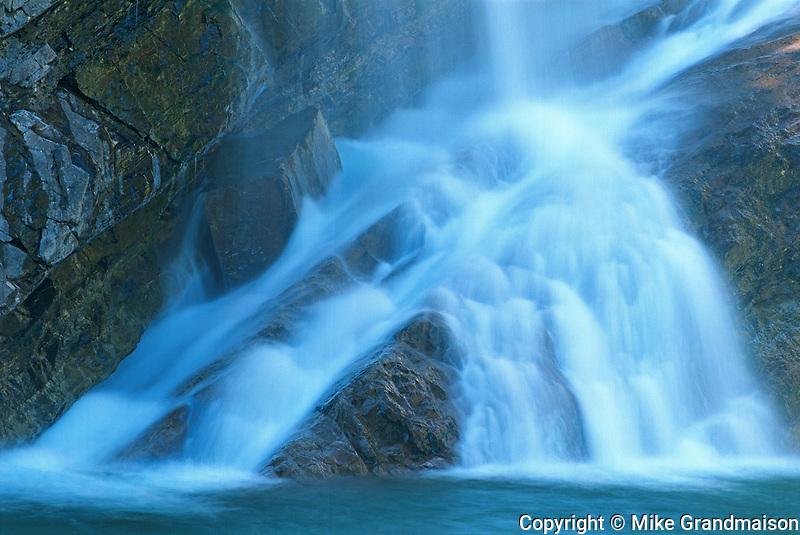 Cameron Falls. Waterton Lakes National Park<br /> Waterton Lakes National Park<br /> Alberta<br /> Canada