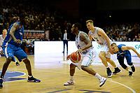 GRONINGEN - Basketbal, Donar - Fribourg, tweede voorronde Champions League, seizoen 2018-2019, 25-09-2018,  Donar speler Jordan Callahan  en Donar speler Thomas Koenes