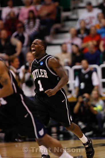 Trent Nelson     The Salt Lake Tribune.Salt Lake City - Butler vs. Kansas State, NCAA West Regional (Final Eight), Saturday, March 27, 2010. Butler guard Shelvin Mack (1)
