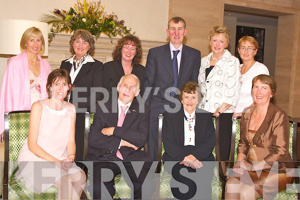 DIAMOND COUPLE: William and Debbie Joy, Tulig, Beaufort, who celebrated their 60th wedding anniversary in the Europe Hotel on Saturday night. They are pictured with their children Mary, Ian, Rose, Valerie, Paula, Philomena, Jacinta and Fidelma.   Copyright Kerry's Eye 2008