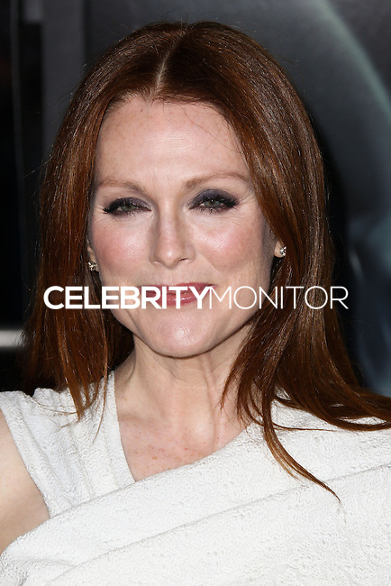 """WESTWOOD, CA, USA - FEBRUARY 24: Julianne Moore at the World Premiere Of Universal Pictures And Studiocanal's """"Non-Stop"""" held at Regency Village Theatre on February 24, 2014 in Westwood, Los Angeles, California, United States. (Photo by Xavier Collin/Celebrity Monitor)"""