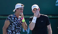 ANDY MURRAY (GBR) THANASI KOKKINAKIS (AUS)<br /> <br /> Tennis - BNP PARIBAS OPEN 2015 - Indian Wells - ATP 1000 - WTA Premier -  Indian Wells Tennis Garden  - United States of America - 2015<br /> &copy; AMN IMAGES