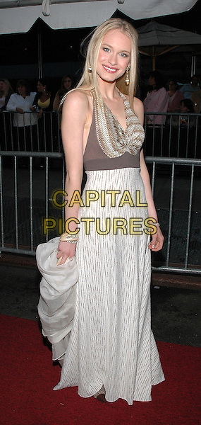 LEVEN RAMBIN.Arrives at the 2005 Daytime Emmys at Radio City Music Hall in New York City..Photo Credit: Patti Ouderkirk/AdMedia.May 20th, 2005.full length white dress halterneck brown.www.capitalpictures.com.sales@capitalpictures.com.© Capital Pictures.