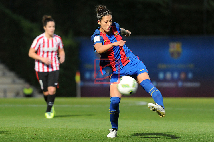 Spanish Women's Football League Iberdrola 2016/17 - Game: 11.<br /> FC Barcelona vs Athletic Club: 2-1.<br /> Jennifer Hermoso.