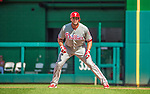 15 September 2013: Philadelphia Phillies outfielder Darin Ruf in action against the Washington Nationals at Nationals Park in Washington, DC. The Nationals took the rubber match of their 3-game series 11-2 to keep Washington's wildcard hopes alive. Mandatory Credit: Ed Wolfstein Photo *** RAW (NEF) Image File Available ***