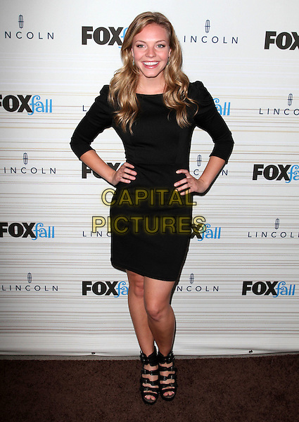 ELOISE MUMFORD.FOX's 2010 Fall Eco-Casino Party held at BOA Steak House, West Hollywood, CA, USA..September 13th, 2010.full length dress black hands on hips sandals .CAP/ADM/KB.©Kevan Brooks/AdMedia/Capital Pictures.