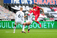 Nahki Wells of Bristol City in action during the Sky Bet Championship match between Swansea City and Bristol City at the Liberty Stadium in Swansea, Wales, UK. Saturday 18 July 2020