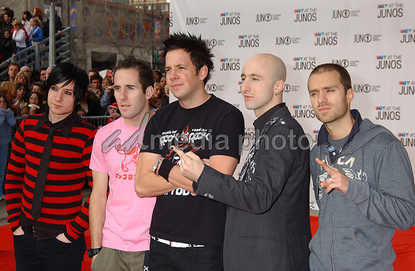 03 April 2005 - Winnipeg, Manitoba -  Simple Plan. The 2005 Juno Awards Arrivals held at the MTS Centre. The Juno Awards are annually awarded to Canada's best musicians. Photo Credit: Laura Farr/AdMedia