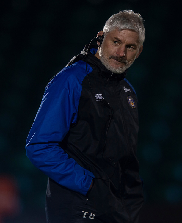 Bath Rugby's Head Coach Todd Blackadder<br /> <br /> Photographer Bob Bradford/CameraSport<br /> <br /> Gallagher Premiership - Bath Rugby v Gloucester Rugby - Monday 4th February 2019 - The Recreation Ground - Bath<br /> <br /> World Copyright &copy; 2019 CameraSport. All rights reserved. 43 Linden Ave. Countesthorpe. Leicester. England. LE8 5PG - Tel: +44 (0) 116 277 4147 - admin@camerasport.com - www.camerasport.com