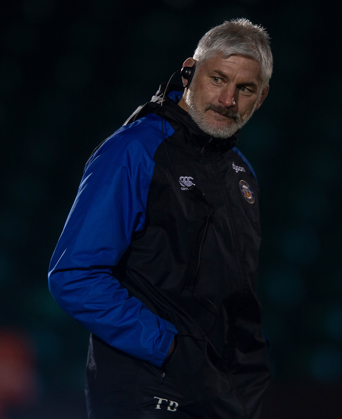 Bath Rugby's Head Coach Todd Blackadder<br /> <br /> Photographer Bob Bradford/CameraSport<br /> <br /> Gallagher Premiership - Bath Rugby v Gloucester Rugby - Monday 4th February 2019 - The Recreation Ground - Bath<br /> <br /> World Copyright © 2019 CameraSport. All rights reserved. 43 Linden Ave. Countesthorpe. Leicester. England. LE8 5PG - Tel: +44 (0) 116 277 4147 - admin@camerasport.com - www.camerasport.com
