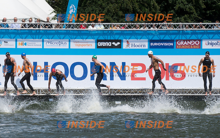Start<br /> Hoorn, Netherlands <br /> LEN 2016 European Open Water Swimming Championships <br /> Open Water Swimming<br /> Men's 10km<br /> Day 01 10-07-2016<br /> Photo Giorgio Perottino/Deepbluemedia/Insidefoto
