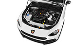 Car Stock 2018 Fiat 124-Spider Abarth 2 Door Convertible Engine  high angle detail view