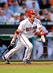 4 August 2007: Washington Nationals catcher Brian Schneider in action against the St. Louis Cardinals at RFK Stadium in Washington, DC. The Nationals defeated the Cardinals 12-1 in the second game of their 3-game series...Mandatory Photo Credit: Ed Wolfstein Photo