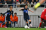 (L to R) Takashi Usami, Genki Haraguchi (JPN), MARCH 29, 2016 - Football / Soccer : FIFA World Cup Russia 2018 Asian Qualifier Second Round Group E match between Japan 5-0 Syria at Saitama Stadium 2002, Saitama, Japan. (Photo by YUTAKA/AFLO SPORT)