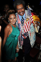 HOLLYWOOD FL - JUNE 22 : Don King and Adrienne Bailon pose during Don King's 80th birthday celebration at Hard Rock live held at the Seminole Hard Rock Hotel &amp; Casino on June 22, 2012 in Hollywood, Florida. &copy;&nbsp;mpi04/MediaPunch Inc NORTEPHOTO.COM<br />