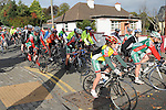 Ardee Cycle club members and friends set off on their 50Km cycle. Photo: Colin Bell/pressphotos.ie