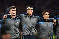 Sam Skinner of Scotland looks on during the anthems. Guinness Six Nations match between England and Scotland on March 16, 2019 at Twickenham Stadium in London, England. Photo by: Patrick Khachfe / Onside Images