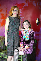 Portrait of artist Apryl Miller with her daughter, Lyris
