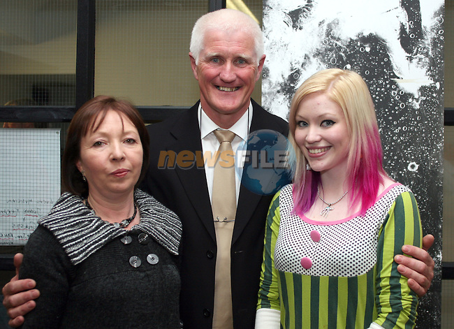 Helen, Eric and Niamh at the Launch of Eric O'Neill's Photography Exhibition, Callans Narrow West Street...Photo NEWSFILE/Jenny Matthews.(Photo credit should read Jenny Matthews/NEWSFILE)....This Picture has been sent you under the condtions enclosed by:.Newsfile Ltd..The Studio,.Millmount Abbey,.Drogheda,.Co Meath..Ireland..Tel: +353(0)41-9871240.Fax: +353(0)41-9871260.GSM: +353(0)86-2500958.email: pictures@newsfile.ie.www.newsfile.ie.FTP: 193.120.102.198.