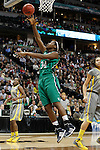 03 APR 2012:  Markisha Wright (34) of the University of Notre Dame drives the lane for a layup past Brittney Griner (42) of Baylor University during the Division I Women's Basketball Championship held at the Pepsi Center in Denver, CO.  Jamie Schwaberow/NCAA Photos
