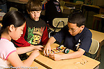 Education Elementary New Jersey public school grade 5 science activity groups creating vehicles and testing velocity
