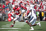 Wisconsin Badgers tight end Kyle Penniston (49) carries the ball during an NCAA College Football game against the Florida Atlantic Owls Saturday, September 9, 2017, in Madison, Wis. The Badgers won 31-14. (Photo by David Stluka)